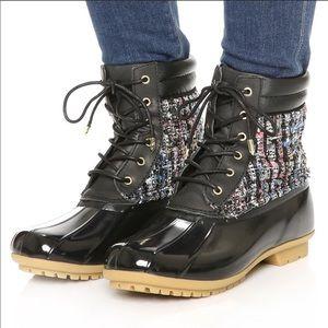 Sam Edelman • Florence Black Rubber Caldwell Boots